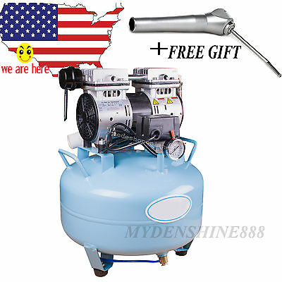 new Dental UNIT Medical silent Noiseless Oil fume Oilless Air Compressor 30L