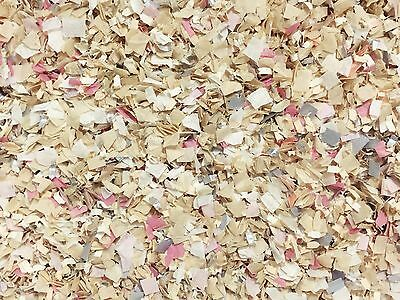 Blush Ivory Grey Silver Biodegradable Confetti Baby Girl Wedding (25 Handfuls)