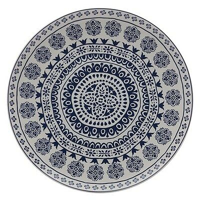 Maxwell & Williams 36.5cm Blue Antico Round Platter Gift Boxed Brand New