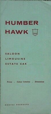 Humber Hawk Technical Spec, Price & Colours Guide