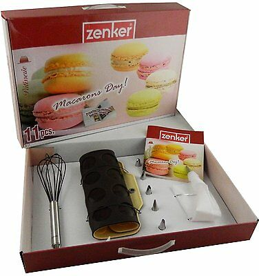 Zenker Set 11 Pezzi Macarons Day Art 43060 Frusta Sil + Stampo + Saccapoche +