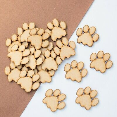 Wooden MDF Dog Cats, PawsShape 3mm MDF, Craft, Tags, Embellishments, Decoration