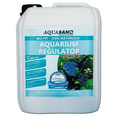 (8,00€/l) AQUASAN Bio-Fit Aquarium Regulator 5000 ml natürlich, Mikroorganismen • EUR 39,99