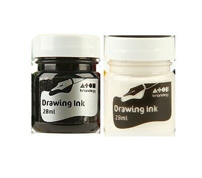 Drawing Ink 1 x 28ml Bottle Black or White Brian Clegg Ref: AK160