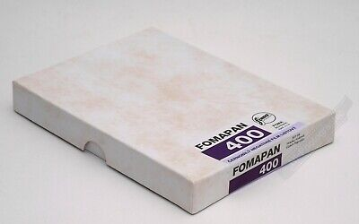 Fomapan Foma 400 Black & White Film 4x5/5x4 Sheet Film Pack of 25 Expiry 11/2021