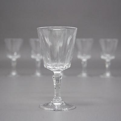 Set of 6 Cristal D'arques Durand Louvre Cordial Glass 24% Lead Crystal Lot
