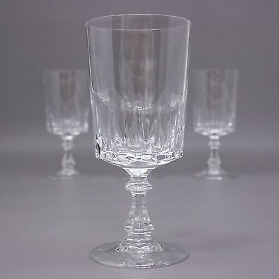 Set of 4 Water Goblets Cristal D'arques Durand Louvre Glass 24% Lead Crystal Lot