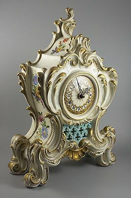 Large Capodimonte King's Porcelain Imperial Clock WorldWide