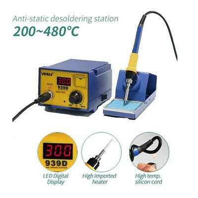YiHUA-939D 60W SMD Rework Solder Soldering Station Desoldering w/ Iron Stand