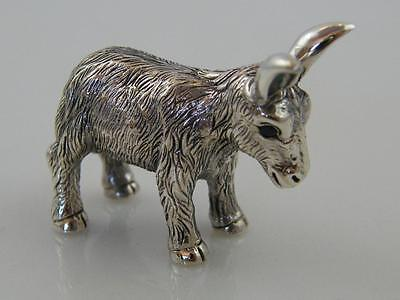 Miniature Sterling 925 Silver Donkey Figurine