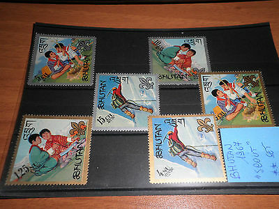 "Bhutan 1967 ""scout"" Mnh** Set (Cat.5A)"