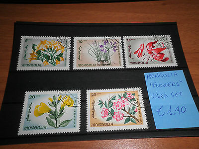 "Mongolia ""flowers"" Used Set (Cat.5A)"