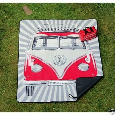 VW Volkswagen Picnic Blanket With Carry Bag - Red Official VW Licensed Product