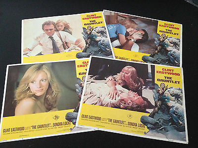 Clint Eastwood 4 Original US Lobby Cards The Gauntlet