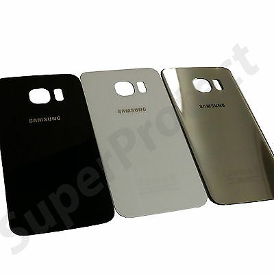 Genuine Samsung Galaxy S6 SM-G920F Original Rear Back Battery Cover Glass Panel