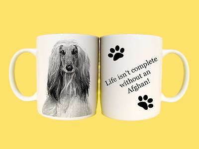 Afghan Hound Dogs Ceramic Mug Gift with choice of 6 captions