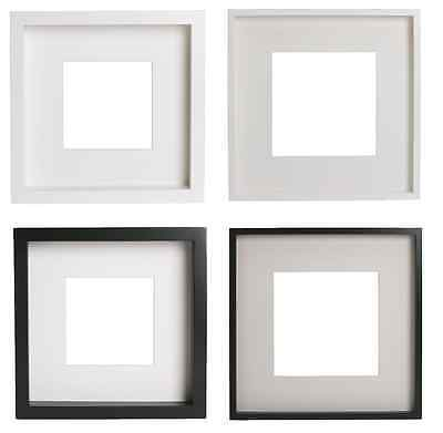 IKEA Ribba Photo Deep Picture Frame White & Black (23x23x4.5 cm) (50x50x4.5 cm)