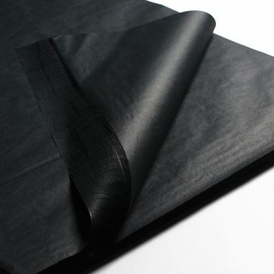 """Black Acid Free Tissue Wrapping Paper Size 450 X 700Mm 18 X 28"""""""