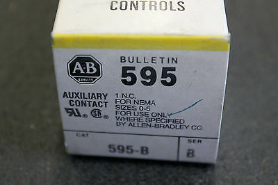 Allen Bradley 595-B auxiliary contact free shipping
