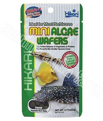 HIKARI MINI ALGAE WAFERS 22g & 85g, MARINE TROPICAL, SINKING FOOD, SPIRULINA FIS