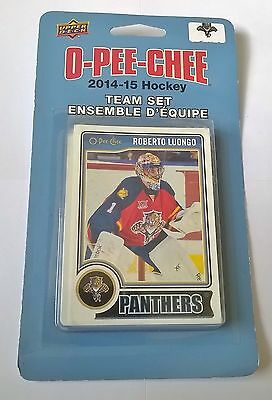 Florida Panthers NHL 2014-15 O Pee Chee Team Hockey Cards Set