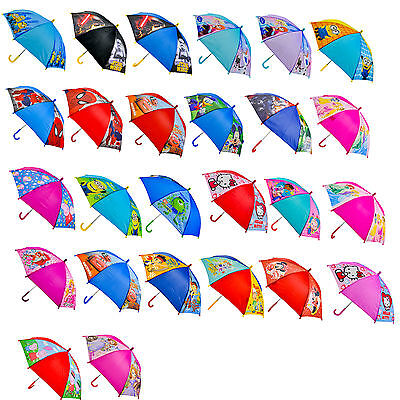 Children's Disney & Tv Assorted Character Official Licensed Umbrella's Brand New