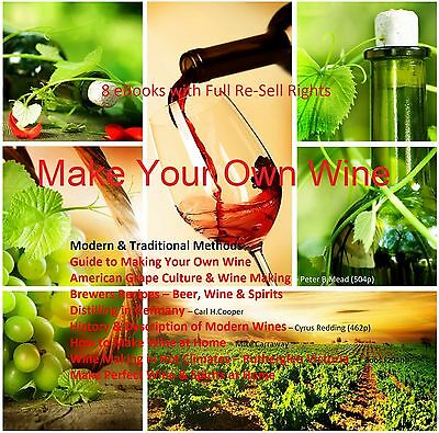 CD - Learn to Make Your Own Wine - 8 eBooks (Resell)
