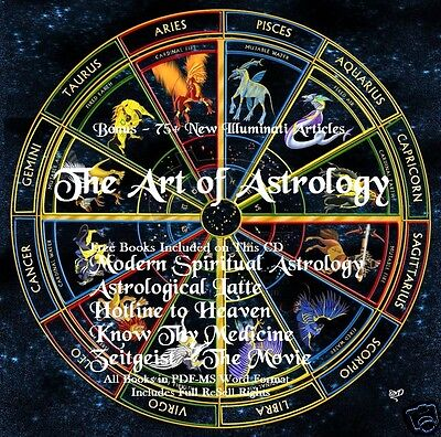 CD - The Art of Astrology - 6 eBooks + More (Resell)