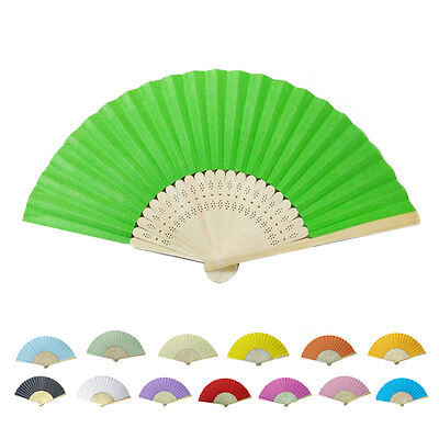 Chinese hand Held Fan Carved Bamboo Papper Folding Mini Fan Summer Home Lovely