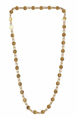 Stunning Dubai Handmade Chain Necklace In Solid Certified 18Karat Yellow Gold