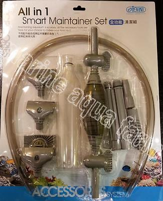 Aquarium All In One Smart Maintainer Set, Syphon Scraper, Gravel Cleaner, Long R