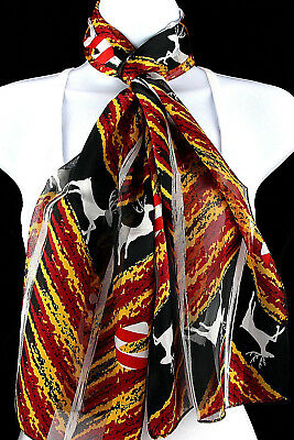 Candy Cane Reindeer Womens Scarf Christmas Xmas Fashion Holiday Gift Scarves New