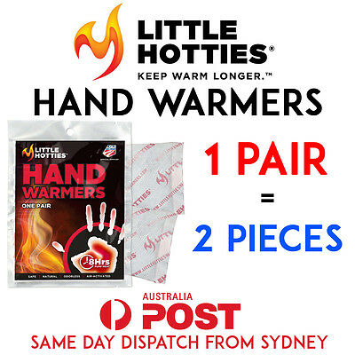 LITTLE HOTTIES 1 Pair (2 Bags) Pocket Hand Warmers 8 Hours Heat Packs