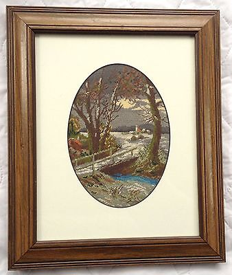 Babs Fuhrmann Landscape Petit Point Professionally Matted & Framed 703