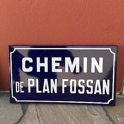 Old French Street Enameled Sign Plaque - vintage fossan • CAD $74.24