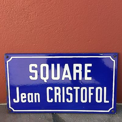 Old French Street Enameled Sign Plaque - vintage christofol