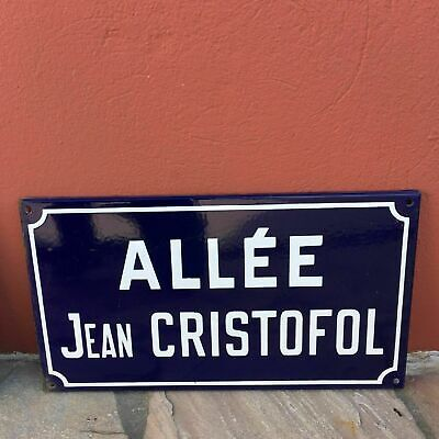 Old French Street Enameled Sign Plaque - vintage christofol 3