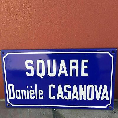 Old French Street Enameled Sign Plaque - vintage casanova