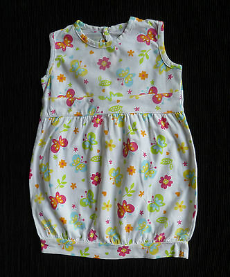 Baby clothes GIRL 6-9m Cherokee white soft cotton butterfly sleeveless dress