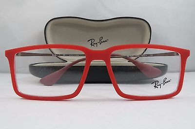 fbf0d841d4 CLEARANCE Ray-Ban RB 7043 5468 Rubber Red New Authentic Eyeglasses 52mm w  Case