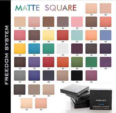 INGLOT Freedom System Eyeshadow MATTE square refill 2.3g colours 348 - 391