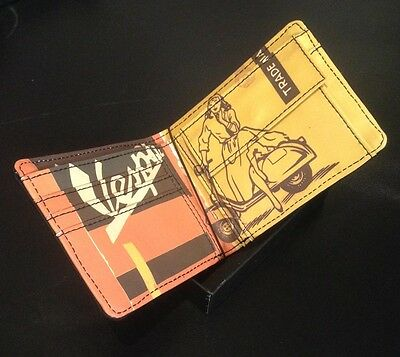 Vespa branded wallet leather in black with scooter interior