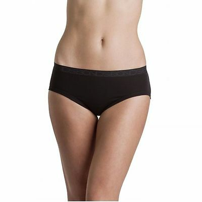 3 PACK x BONDS WOMENS COTTONTAILS MIDI COTTON UNDERWEAR BLACK PLUS SIZE 10-18
