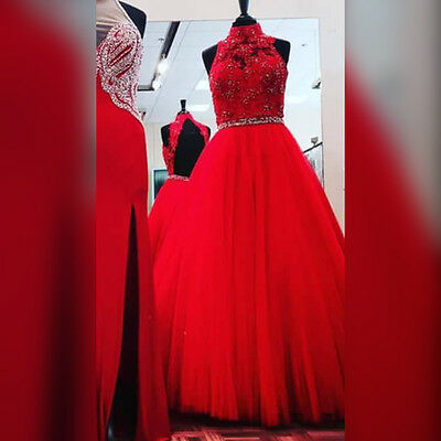 Red Ballgown Prom Dress size 12