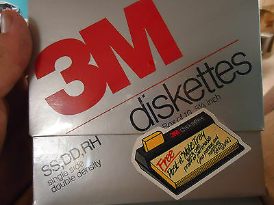 Lot Of 50 5.25 Diskettes  (5 Boxes) - New Sealed! - 3M Ss-Dd-Rh  051111-00230