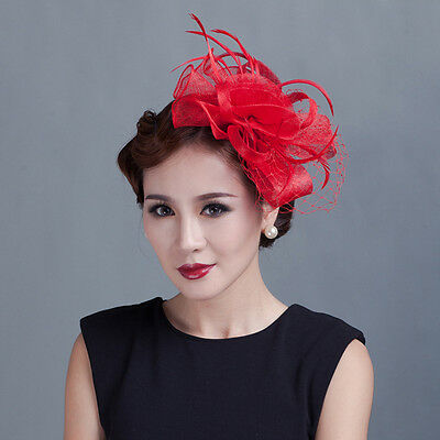 Lady Party Church Derby Cocktail Fascinator Flower Hair Clip Headband Headpiece