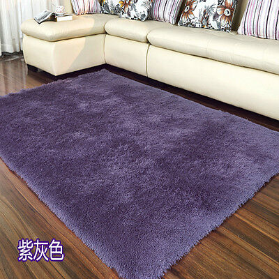 Small X Large Size Thick Plain Soft Shaggy Rug Non Shed Pile Modern Rugs