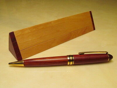 Laser Engraved Personalized Genuine Rosewood Pen Triangle Pen Case / Name Wedge