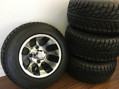 "10"" Golf Car Wheel And Tire COMBO (SET of 4) for Club Car, EZGO, YAMAHA"