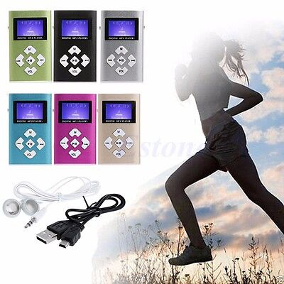 32GB Mini USB Digital MP3 Music Player LCD Screen Metal Support TF Card+Earphone